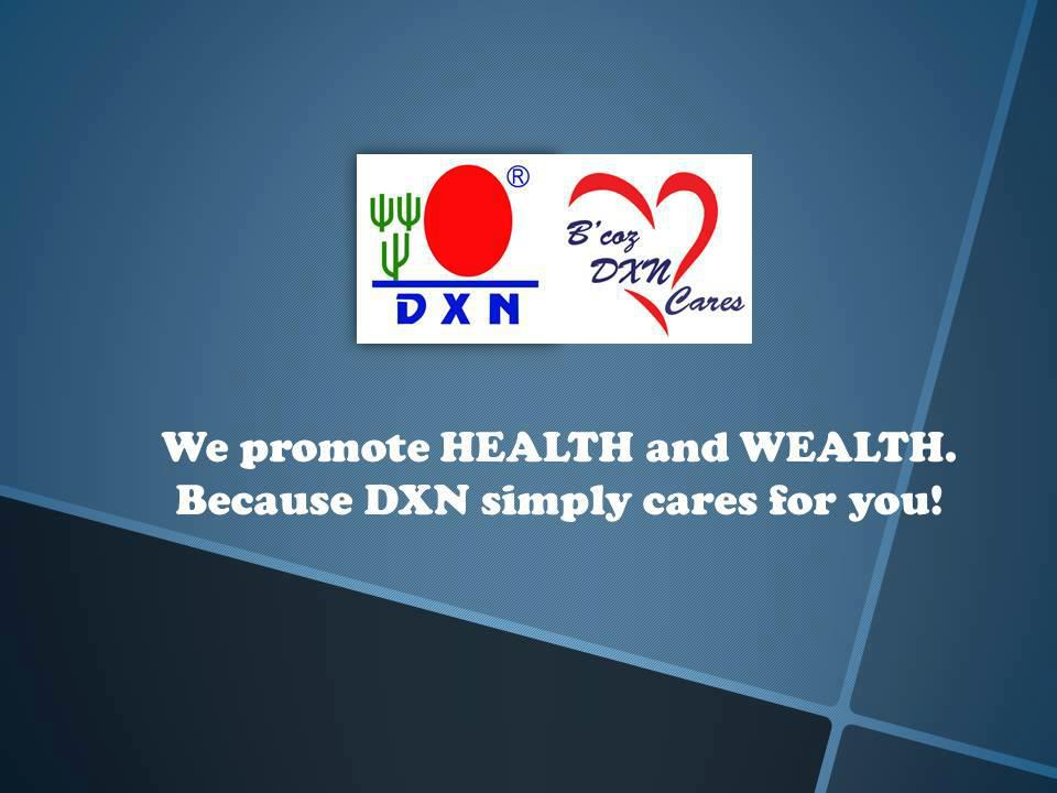 DXN promotes health