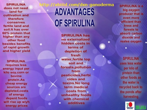 Advantages of Spirulina
