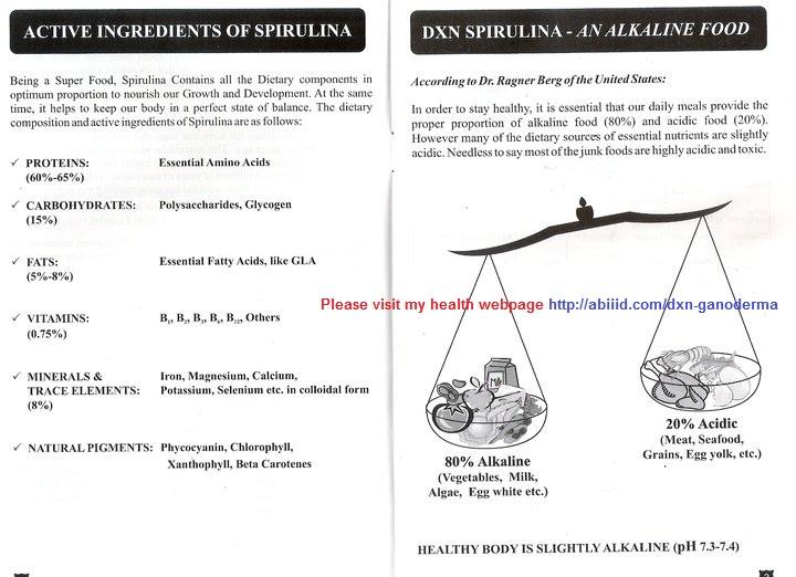 DXN Spirulina - An Alkaline Food
