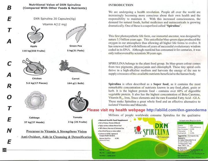 DXN Spirulina - Introduction