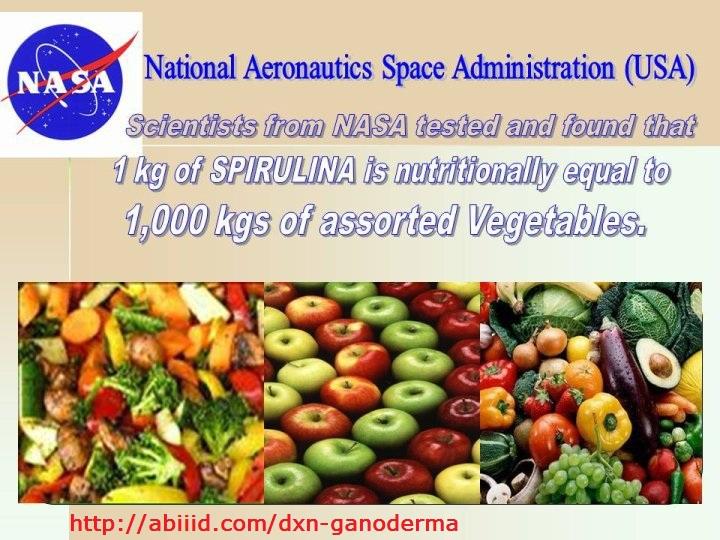 NASA - 1 kg of Spirulina