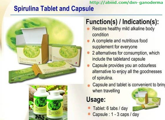 Spirulina Tablet and capsule