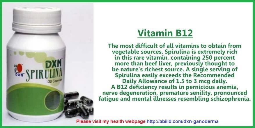 Spirulina - Vitamin B12