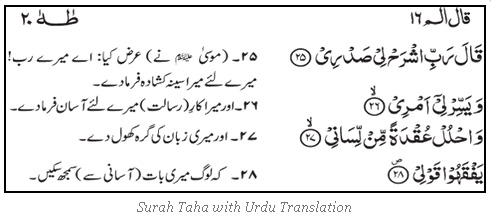 Dua of Hazrat Musa (AS) With UrduTranslation.